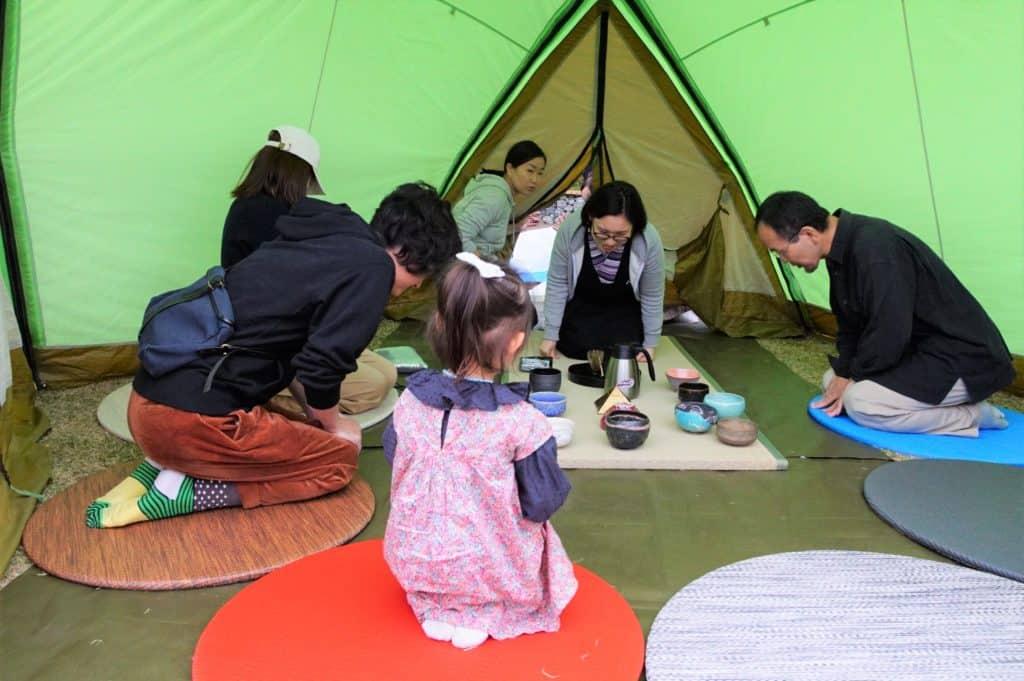 二子玉川ライズ 原っぱ広場のお茶席のイメージ